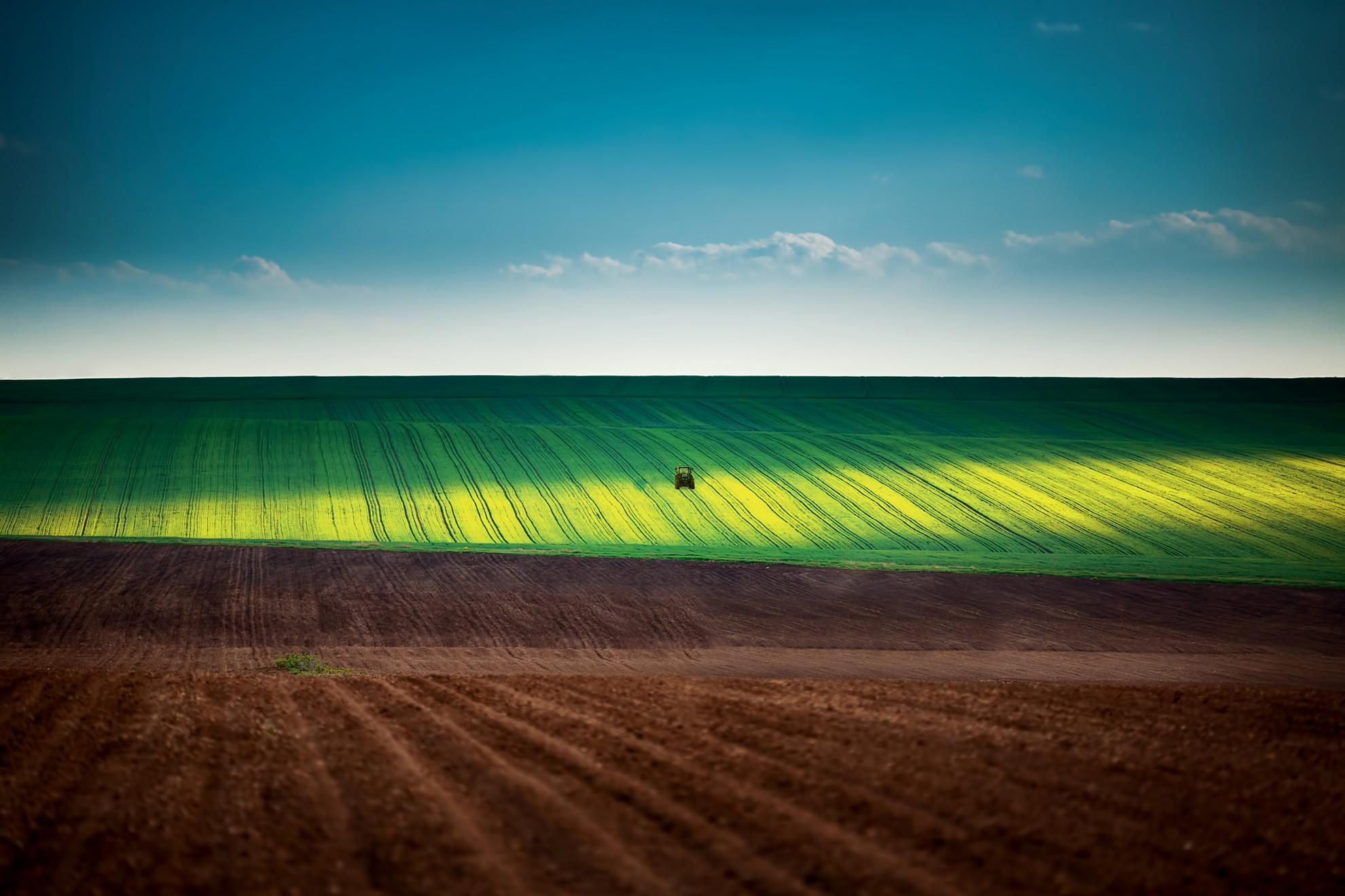 Gestion agronomique de l'azote, tracteur